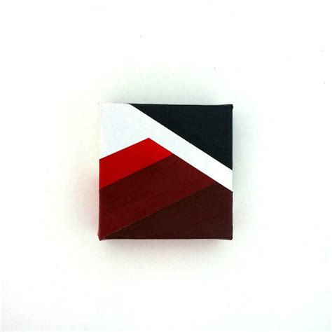 modern minimalist artist tiny canvas minimalist painting from rolandpaints on etsy