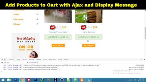 laravel web page tutorial add to cart ajax functionality in laravel laravel