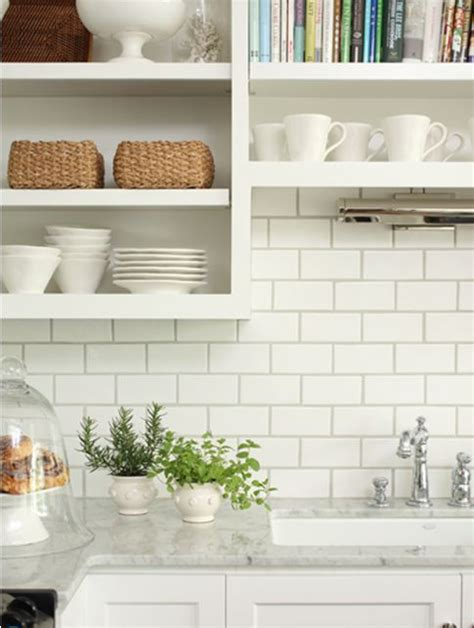 white tile backsplash kitchen white subway tile