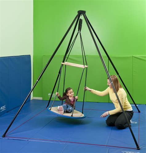 platform swing occupational therapy portable itinerant frame sensory integration spin swing