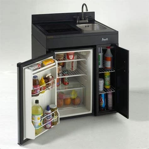 compact kitchen sink range refrigerator in a modular complete compact kitchen from avanti tiny fridge