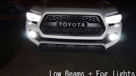 toyota tacoma led lights 2016 toyota tacoma led headlights and fog lights