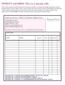 fundraiser order form template fundraiser order form template search results calendar