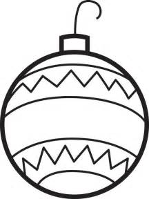 Free printable christmas ornaments coloring page for kids 2