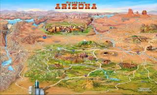 arizona attractions map large detailed tourist attractions panoramic map of