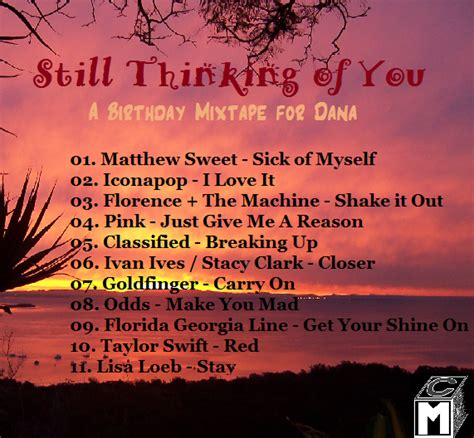 Still Thinking Of You still thinking of you a birthday mixtape silent cacophony