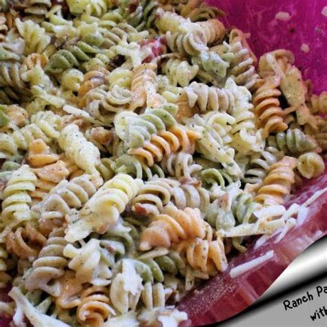pasta salad with bacon ranch pasta salad with bacon food pinterest