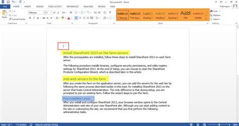 10 Day Mba Table Of Contents by ทำสารบ ญ Microsoft Word 2013 อ พเดทข าว It ล าส ด ข าวไอท