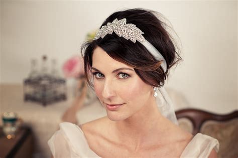 hochzeitsfrisur band bridal hairstyles for hiar with veil half up 2013 for