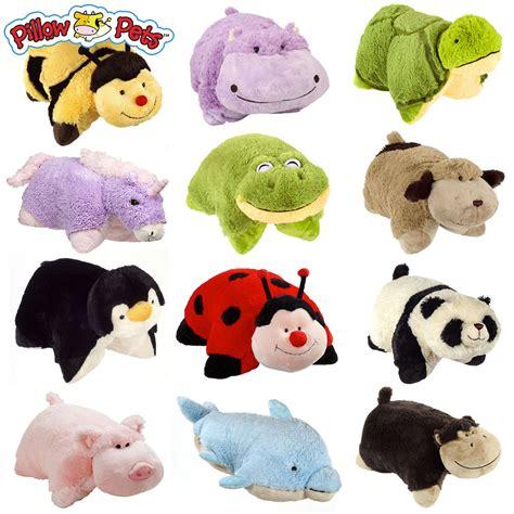 set of 4 pillow pets wees stuffed animal plush