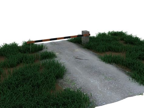 Road Barrier 9 11 country road barrier 3d max