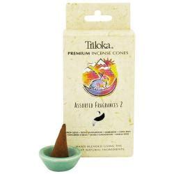 Incense Cone Assorted triloka assorted fragrances 2 incense cones incense