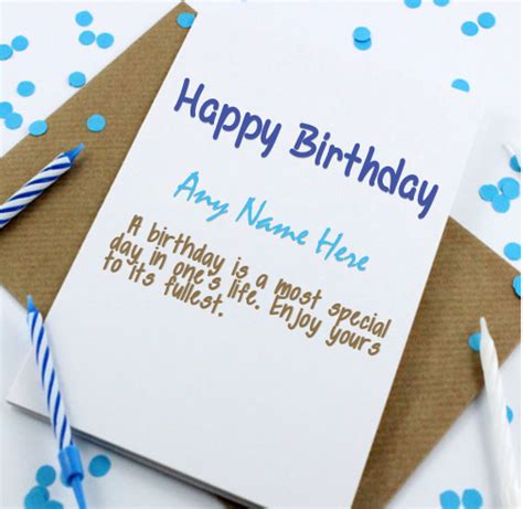 Happy Birthday Cards With Name And Photo Happy Birthday Cards With Name