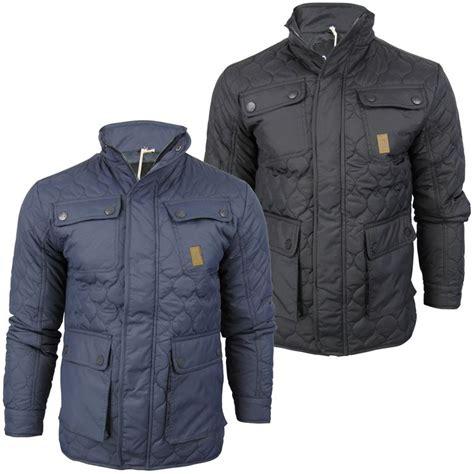 Crosshatch Quilted Jacket mens crosshatch potblack quilted jacket coat