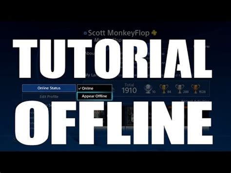 tutorial youtube offline ps4 how to appear offline new feature in 3 50 system