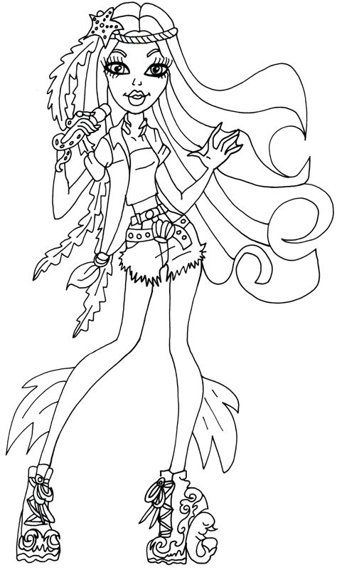 coloring pages free monster high monster high printable color pages