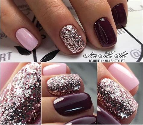 autumn fall nail colors ideas   love pink gel