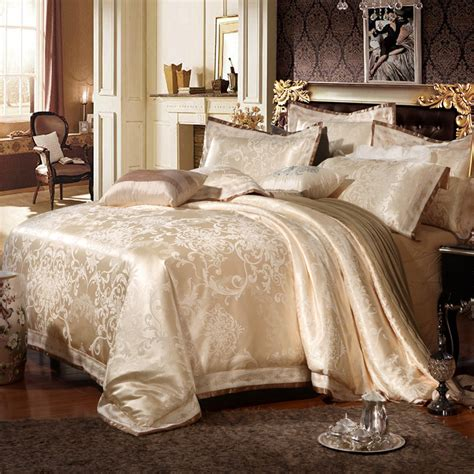 4 6pcs luxury silk oriental bedding set queen king size