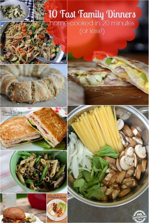10 fast family dinners home cooked in 20 minutes or less dinners food and recipes