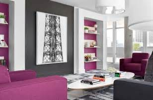 grey and purple living room how to decorate with purple in dynamic ways