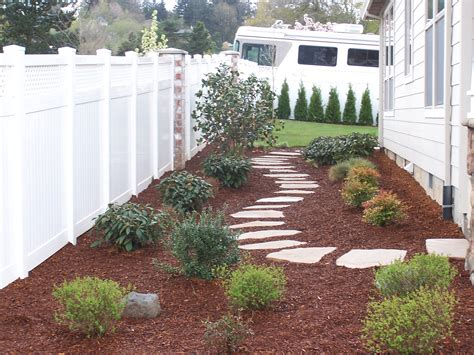 side of house landscaping ideas side yard idea flagstone paver path outdoor looks