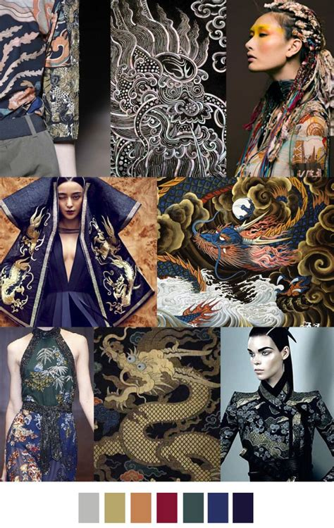 patterns or trends in data collected chinese dragon aw 2017 fw 17 18 pinterest chinese