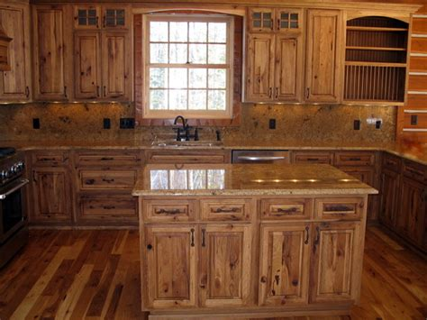 Rustic Kitchen Cabinets Kitchen Cabinets Rustic Hickory Quicua