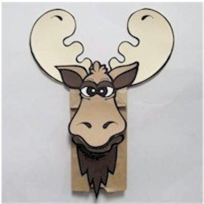 moose crafts for moose paper bag puppet