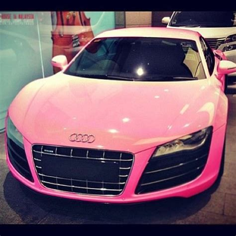 pink audi personal long term goal pink audi r8 look how pretty
