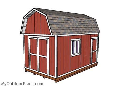 gambrel shed plans myoutdoorplans