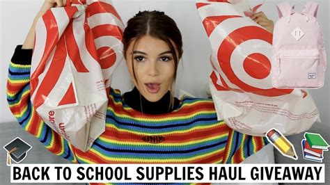 Back To School Supplies Giveaway 2017 - back to school supplies haul giveaway 2017 l olivia jade youtube