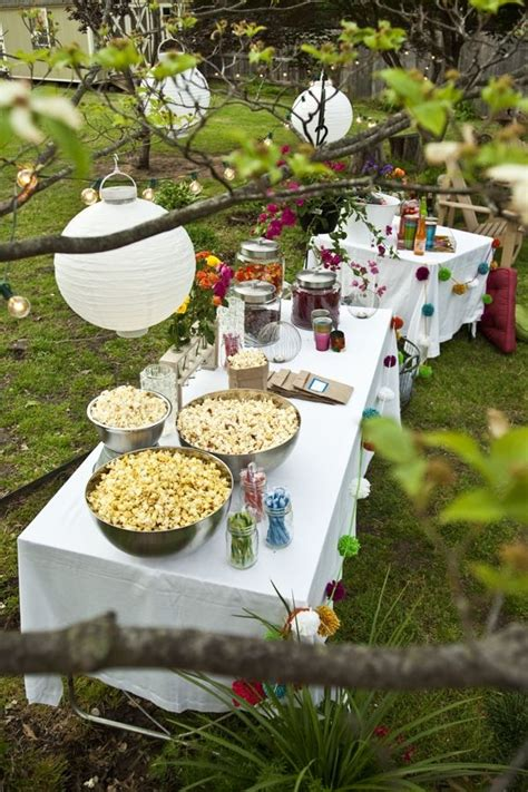 backyard cing party ideas outdoor party themes outdoor movie night inspirational