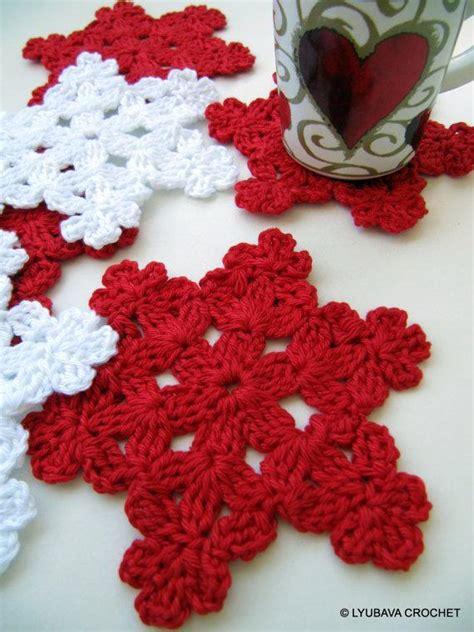 crochet snowflake coaster  craftsy
