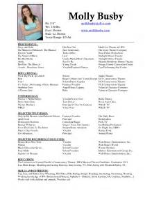 Theatrical Resume Sample theater resume resume sample template acting resume example windows