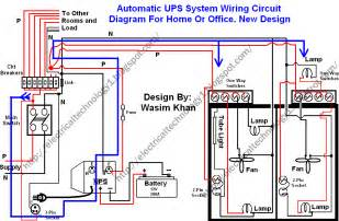 electrical technology automatic ups system wiring wiring diagram new design simple for