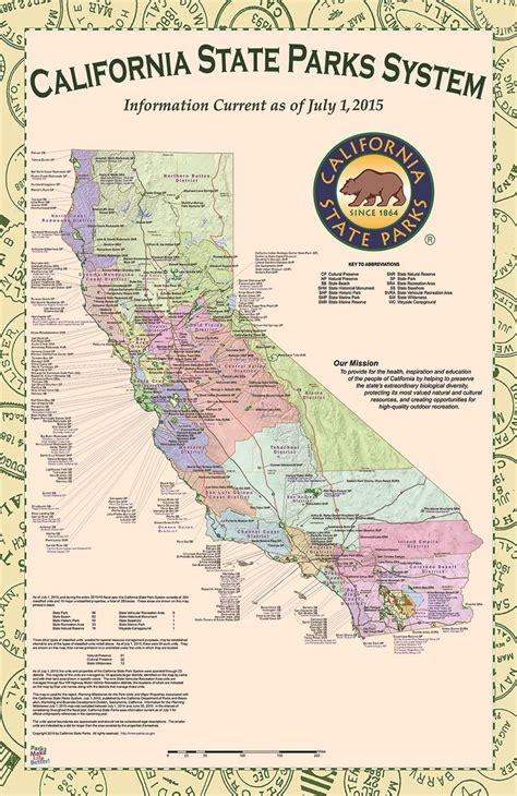 california park map california state parks system map
