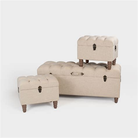 3 piece ottoman set 24 off on otto buttoned 3 piece ottoman set fabric