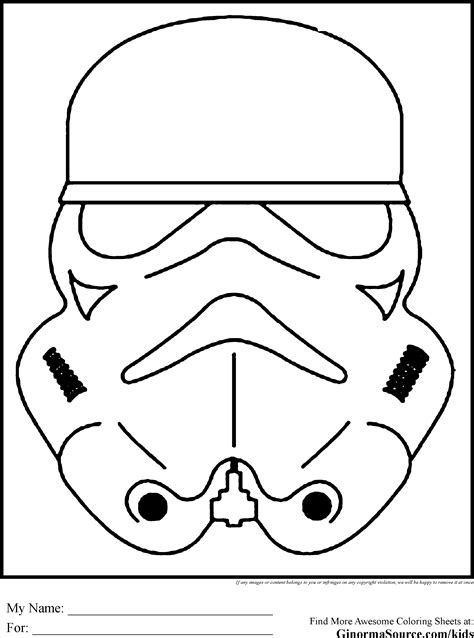 star wars colouring pages stormtroopers mask star wars