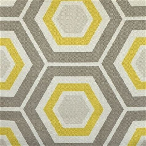 geometric pattern material gray and yellow geometric hexagon fabric outdoor