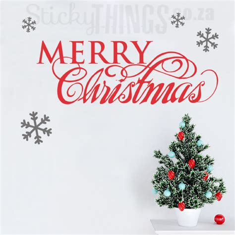 merry christmas quote wall art decal stickythings coza