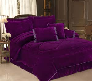 Purple Bed Sets 5pcs Twin Purple Velvet Bedding Comforter Set Ebay