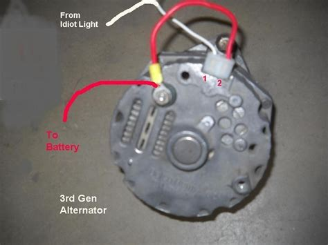 gm 1 wire alternator wiring wiring diagrams