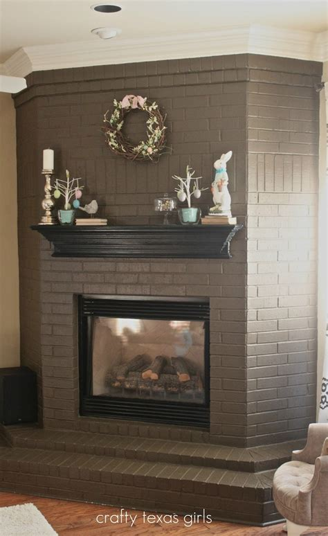 crafty mantle the chocolate painted brick for updating an
