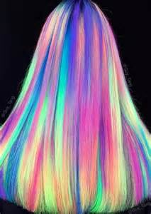 glow in the hair glowing neon hair