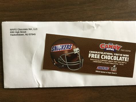 Snickers Sweepstakes 2017 - winner in the 2017 candy bowl game and sweepstakes