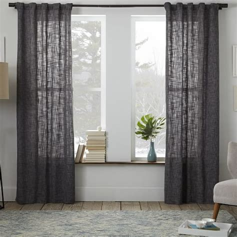 west elm curtains crossweave curtain feather gray west elm