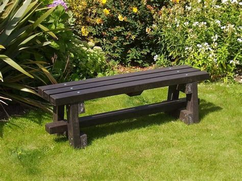 picnic table without benches ribble bench without backrest recycled plastic kedel co uk