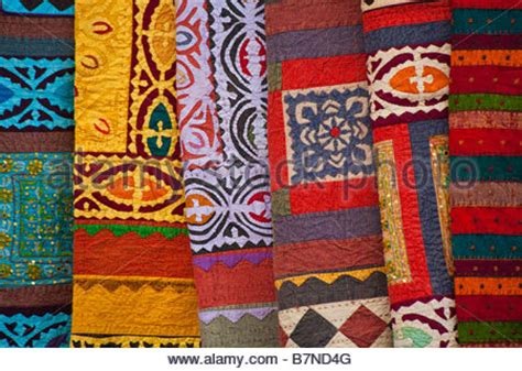 santa fe rugs and blankets navajo blanket american indian morning gallery road stock photo royalty free