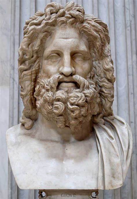 statues of gods zeus jupiter greek god king of the gods and men