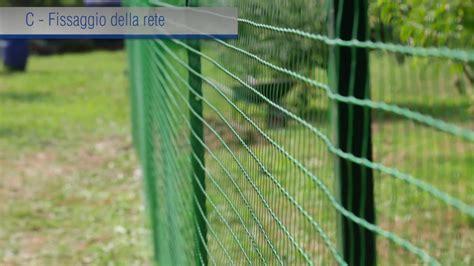 reti da giardino rete da recinzione in plastica installazione tecnica